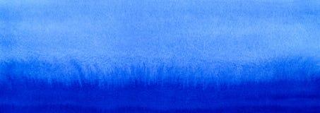 Предпосылка заполнения градиента акварели сини морского пехотинца или военно-морского флота знамени сети Пятна Watercolour Шаблон Стоковые Фото