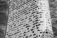 Предпосылка здания, здание с округленными стенами, оборона башни Ла, Франция Стоковое Изображение RF