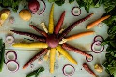 Предпосылка здоровой еды красочная Стоковое Фото