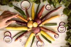 Предпосылка здоровой еды красочная Стоковое Изображение