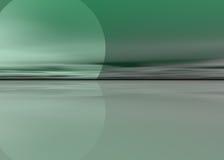 Предпосылка зеленого моря Стоковое Изображение
