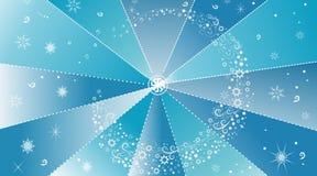 Предпосылка зимы абстрактная с снежинками Стоковое Фото