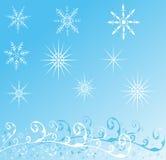 Предпосылка зимы, вектор Стоковые Изображения RF