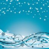 Предпосылка зимы, вектор Стоковое Изображение