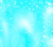 Предпосылка зимы рождества с снежинками Иллюстрация штока