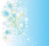 Предпосылка зимы с снежинками. Стоковые Фотографии RF