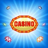 Предпосылка знака казино иллюстрация вектора