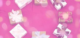 Предпосылка знамени декоративная праздничная Стоковая Фотография RF