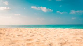 Предпосылка знамени пляжа лета Мягкий песок и бесконечный вид на море Предпосылка природы пляжа стоковое фото rf