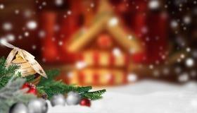 Предпосылка знамени рождества Стоковые Изображения