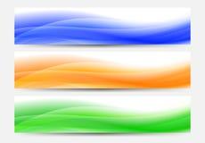 Предпосылка знамен сети в голубом, апельсине и зеленом цвете бесплатная иллюстрация
