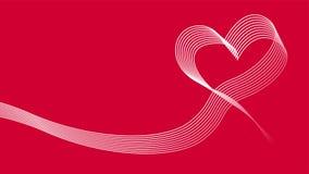 Предпосылка значка вектора ленты волны сердца Стоковые Фотографии RF