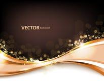 Предпосылка золота абстрактная элегантная иллюстрация вектора