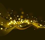 Предпосылка золота абстрактная Стоковая Фотография RF