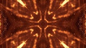 Предпосылка золота безшовная абстрактная с частицами Виртуальный космос с глубиной поля, sparkles зарева и цифровыми элементами видеоматериал