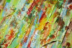 Предпосылка золота зеленая waxy темная, текстура краски Стоковое Фото