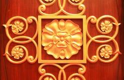 Предпосылка золота традиционная Стоковое Изображение