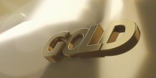 Предпосылка золота 3d-illustration золотая иллюстрация штока