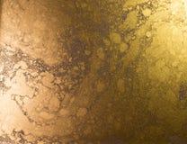 предпосылка золотистая абстрактная картина Жидкостное золото Стоковые Фотографии RF