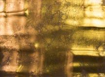 предпосылка золотистая абстрактная картина Жидкостное золото Стоковое Изображение RF