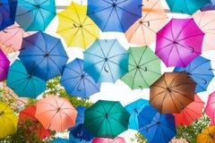 предпосылка зонтика цвета Стоковое фото RF