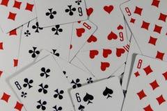Предпосылка играя карточек Стоковое Изображение RF