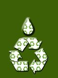 предпосылка идет зеленый цвет рециркулирует Стоковые Изображения