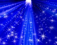 предпосылка излучает звезды Стоковые Изображения