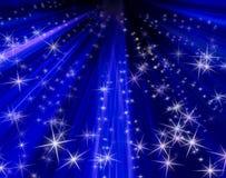 предпосылка излучает звезды Стоковое Изображение