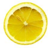 предпосылка изолировала белизну ломтика лимона Стоковые Фото