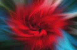 Предпосылка изящного искусства абстрактная красный цвет голубого зеленого цвета Стоковое фото RF