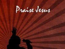 Предпосылка Иисуса хваления с певицей Стоковые Изображения RF