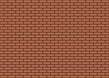 Предпосылка иллюстрации вектора красной кирпичной стены безшовная - текстурируйте картину для непрерывной копии Стоковое Изображение