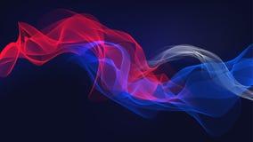 Предпосылка иллюстрации звуковой войны флага дыма стоковая фотография rf
