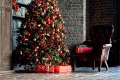Предпосылка интерьера рождества Стоковые Фото