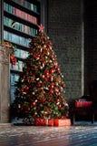 Предпосылка интерьера рождества Стоковая Фотография RF