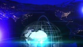 Предпосылка информационной передачи с картой мира Дело всемирное Глобальный Телевизионные новости E бесплатная иллюстрация