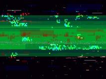 Предпосылка искажения небольшого затруднения Сломленный видеосигнал Линии и формы Glitched Влияние шума цвета также вектор иллюст Стоковое Фото