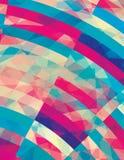 Предпосылка искусства графическая с нашивками Стоковое Фото