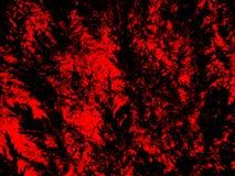 Предпосылка искусства красной и черной текстуры завода природы иллюстрации картины листьев grungy для сети и печати стоковое изображение
