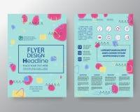 Предпосылка искусства Мемфиса для фирменного стиля, шаблона вектора плана дизайна плаката рогульки крышки годового отчета брошюры Стоковая Фотография RF