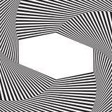предпосылка искусства оптически Рамка обмана зрения с пустым космосом Современная геометрическая картина вектора Стоковая Фотография