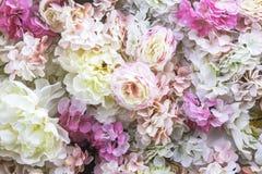 Предпосылка искусственных цветков стоковые фотографии rf