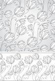Предпосылка и граница цветка Стоковое Изображение