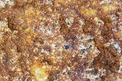 Предпосылка и обои или текстура старой ржавой железной плиты или ржавой поверхности металла Стоковая Фотография RF