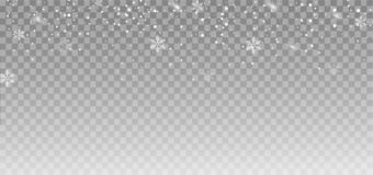 Предпосылка и снежинки снега Понижаясь влияние снега overlay вектор бесплатная иллюстрация