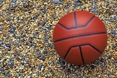 Предпосылка камня пляжа баскетбола никто стоковые изображения rf
