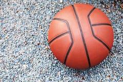 Предпосылка камня пляжа баскетбола никто стоковое фото rf