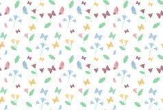 Предпосылка картины бабочки и цветка бесплатная иллюстрация