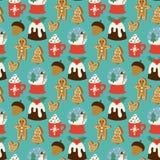 Предпосылка картины вектора рождества безшовная для дизайна торжества Нового Года зимы поздравительной открытки стоковые фото